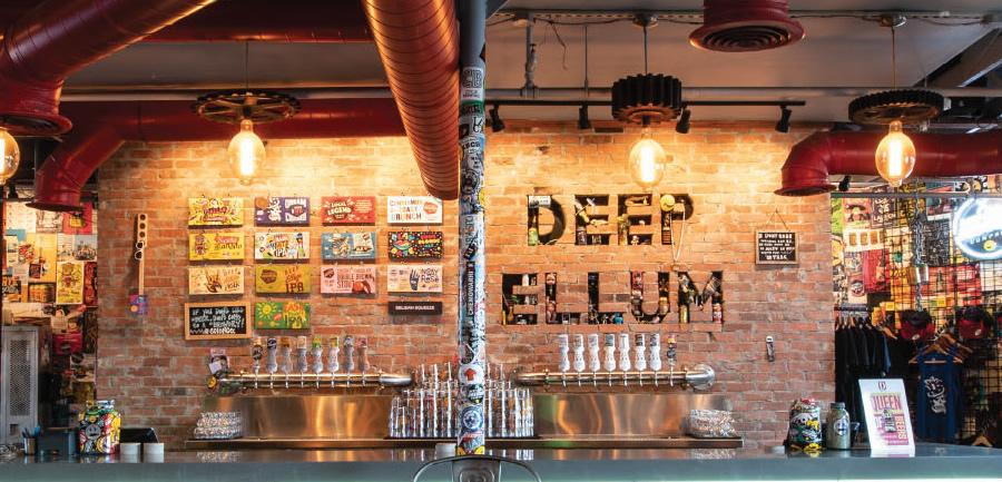 Deep Ellum Brewing Company, the original taproom and brewery location in Deep Ellum neighborhood of Dallas.