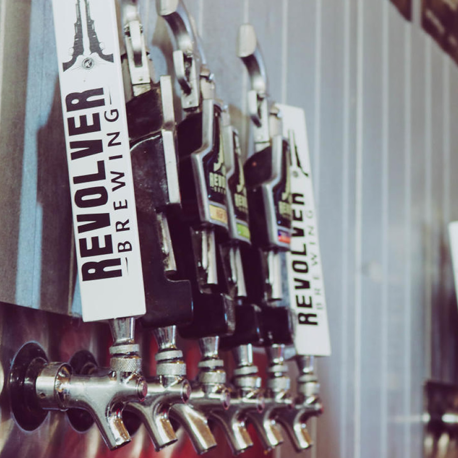 Revolver's flagship beer, Blood and Honey, is a beautifully done wheat beer that is borderline sessionable on a warm day, depending on whether 7% ABV is a bit rich for your sessioning blood.
