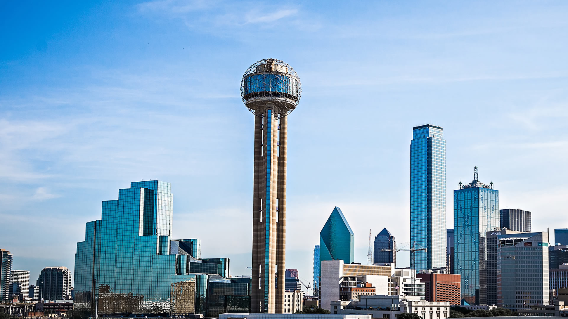 The Reunion Tower gives you a picturesque view of Dallas that you can't get anywhere else.