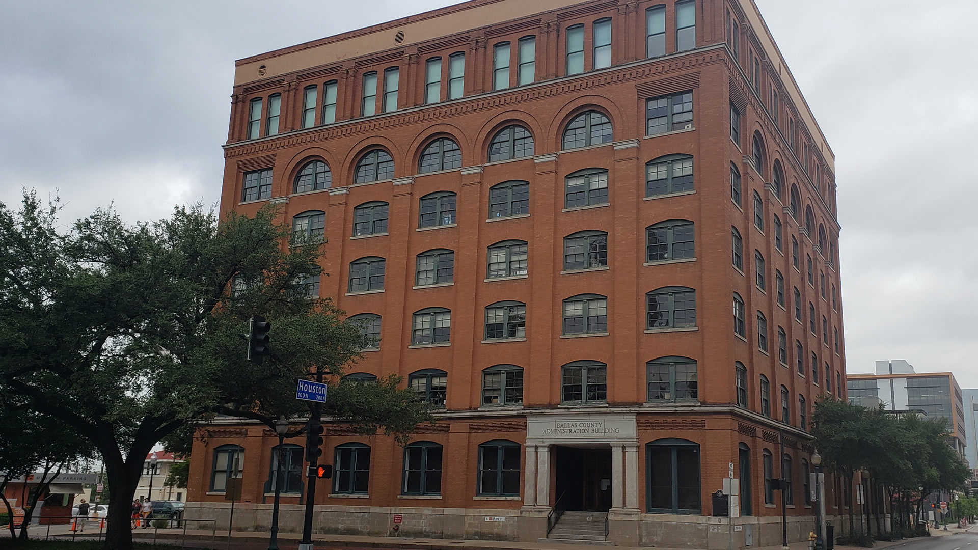 View of Dealey Plaza, the plaza hass played a significant role in Dallas history.