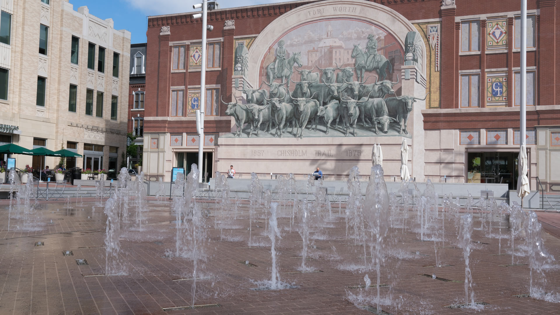 Chisholm Trail Mural at Sundance Square, Forth Worth, Texas