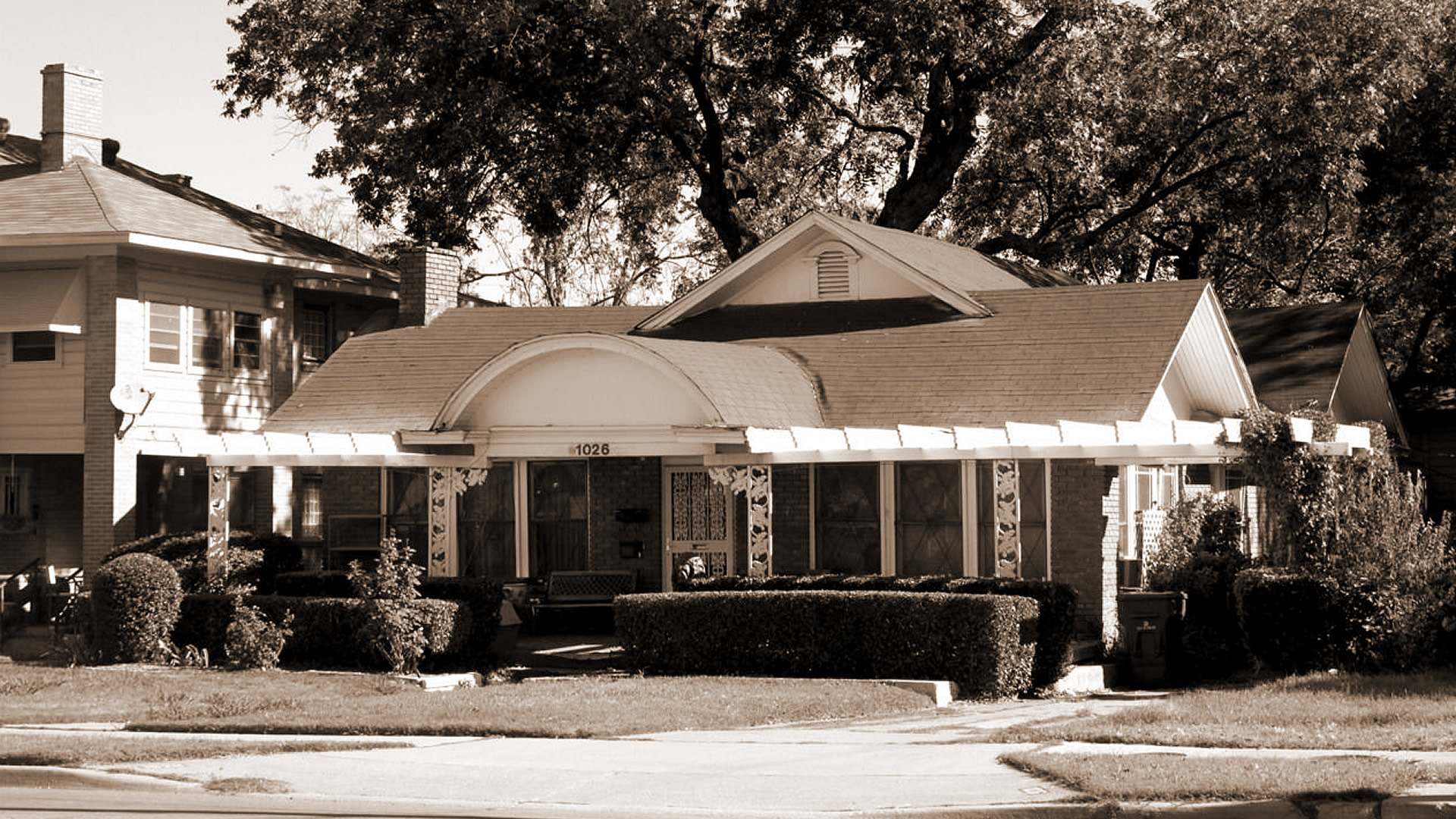 The house at 1026 N. Beckley Street in the Oak Cliff section of Dallas, Texas was the temporary residence of Lee Harvey Oswald at the time of the assassination of United States President John F. Kennedy. Oswald rented a room at this house for $8 a week, beginning October 14, 1963, under the name O.H. Lee.