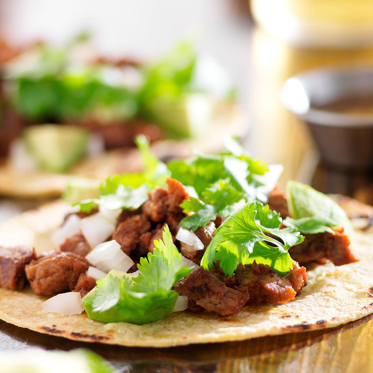 Beef Tacos at: El Come Tacos