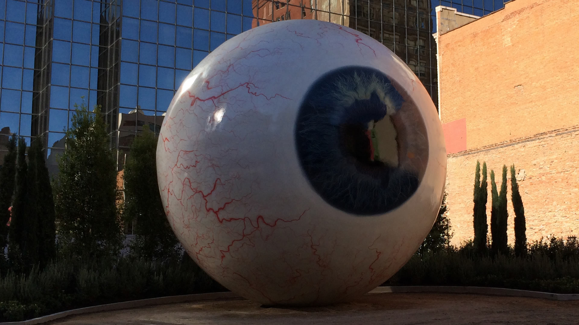 Giant Eyeball Downtown Dallas